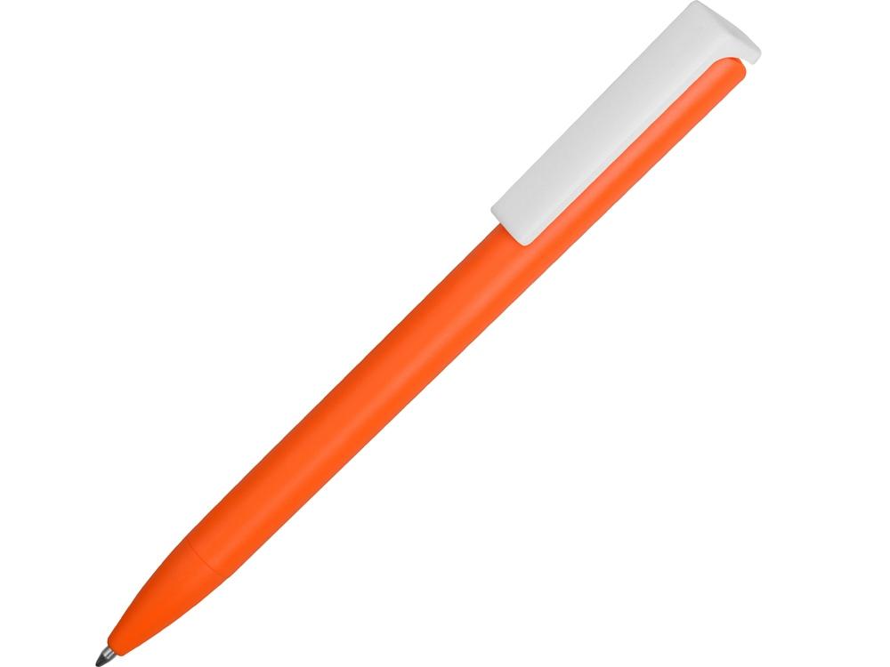 Ручка пластиковая шариковая Fillip, оранжевый/белый