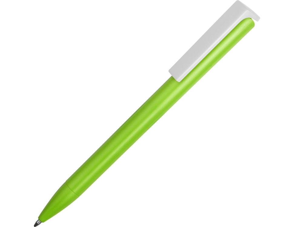 Ручка пластиковая шариковая Fillip, зеленое яблоко/белый