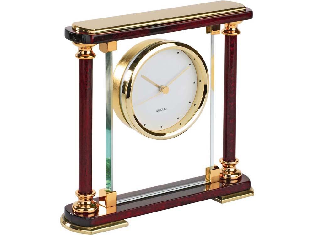 Часы «Эдинбург», золотистый/красное дерево