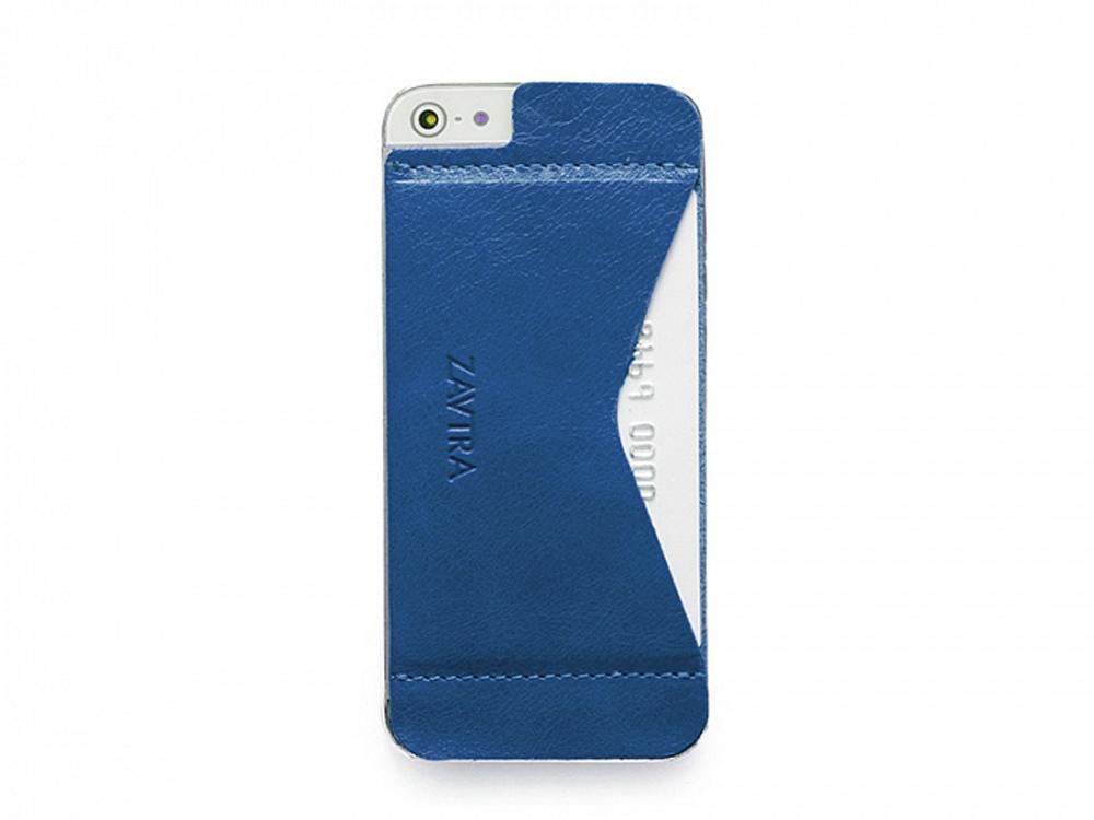 Кошелек-накладка на iPhone 5/5s и SE, синий