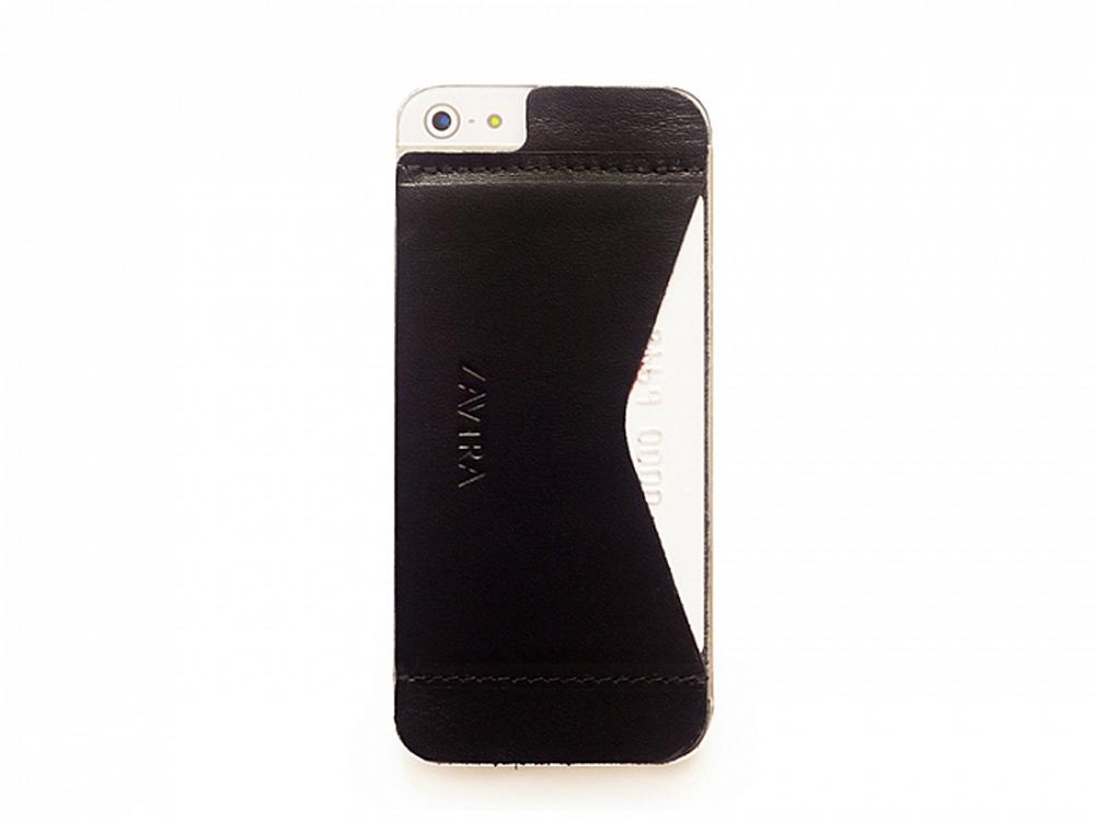 Кошелек-накладка на iPhone 5/5s и SE, черный