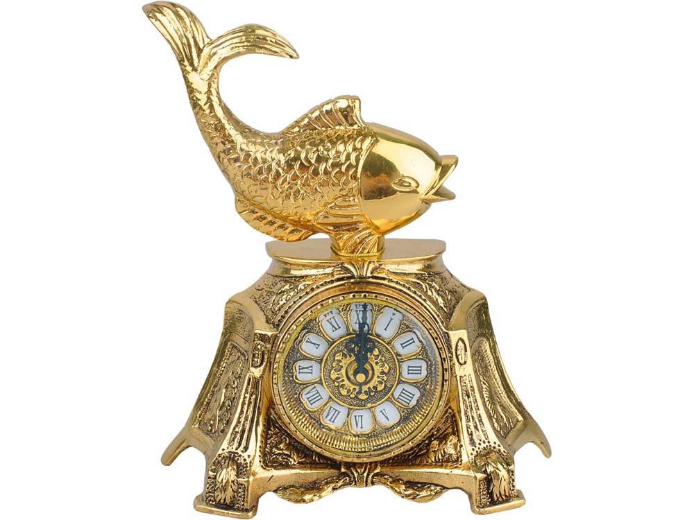 Часы настольные Три желания, золотистый