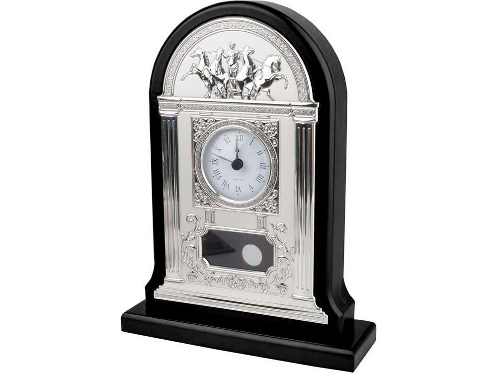 Часы настольные «Александр Македонский», серебристый/красное дерево