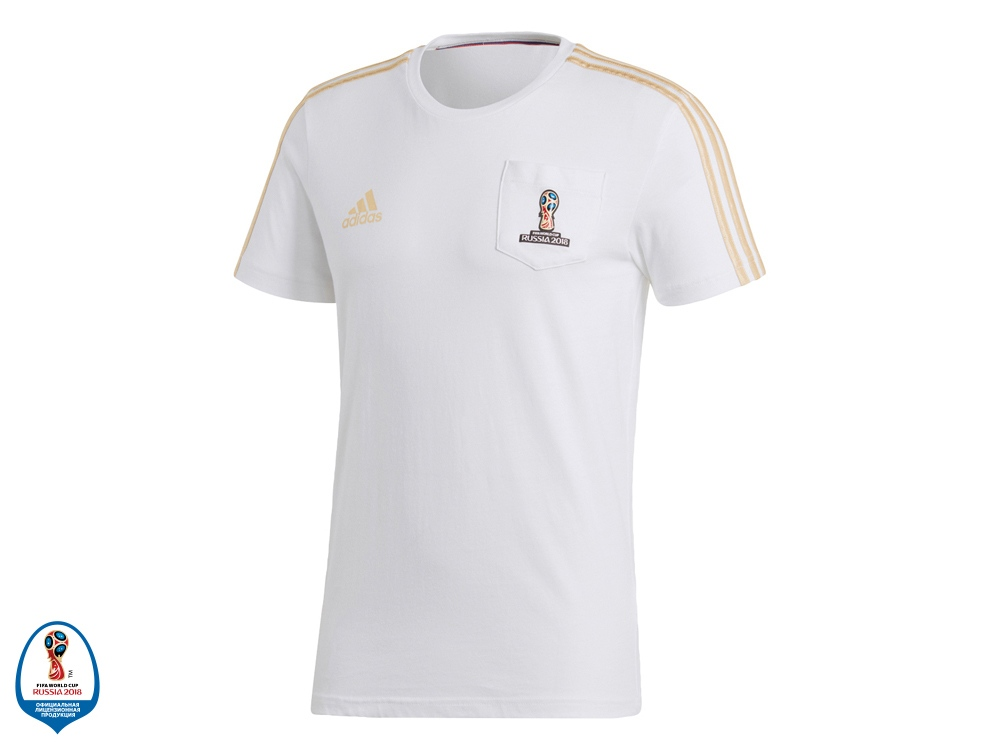 Футболка мужская FWC Emblem. adidas, белый