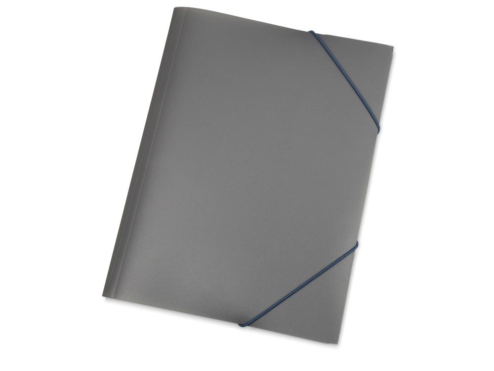 Папка A4 с резинкой 0.45 мм, серый