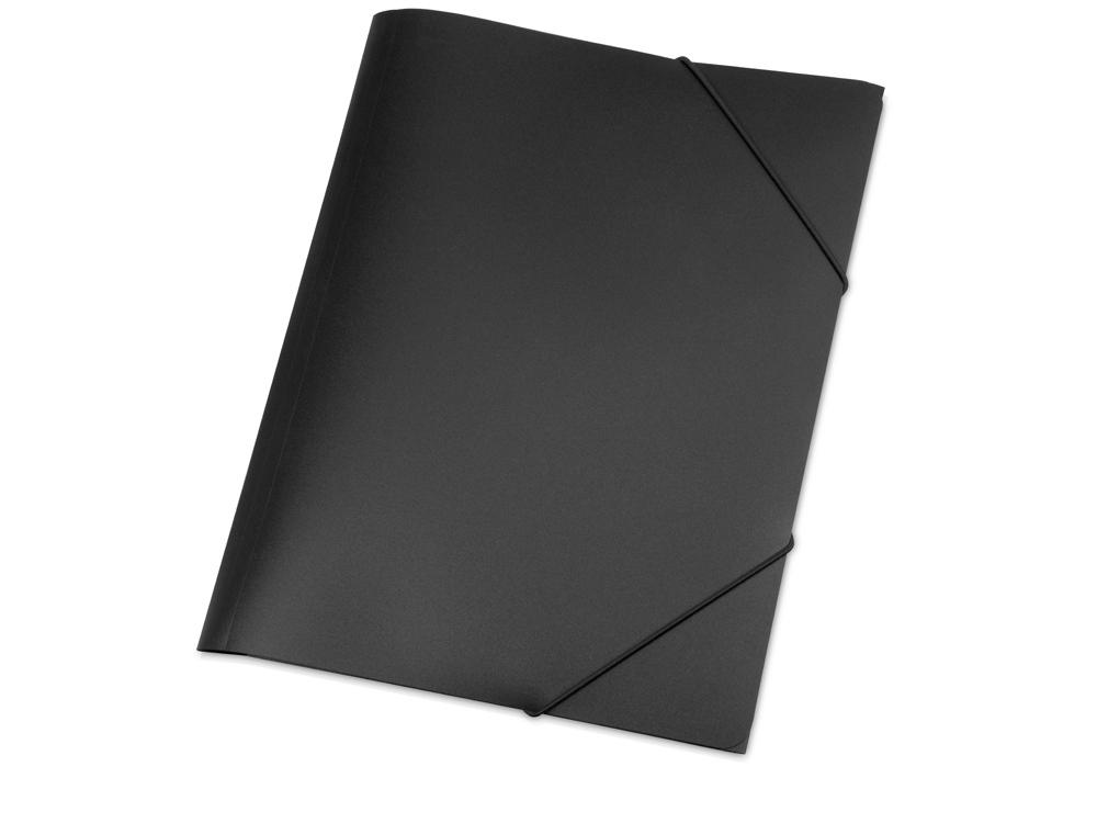 Папка A4 с резинкой 0.45 мм, черный