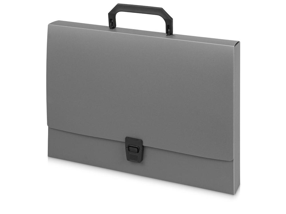 Папка-портфель A4 40 мм с замком 0.70 мм, серый