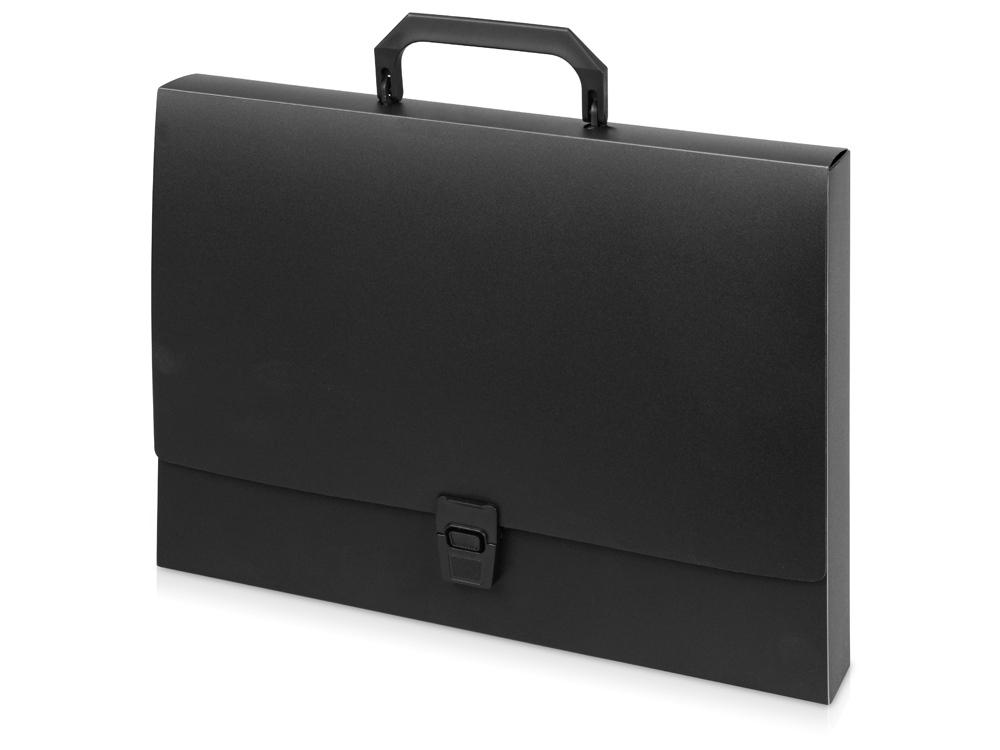 Папка-портфель A4 40 мм с замком 0.70 мм, черный