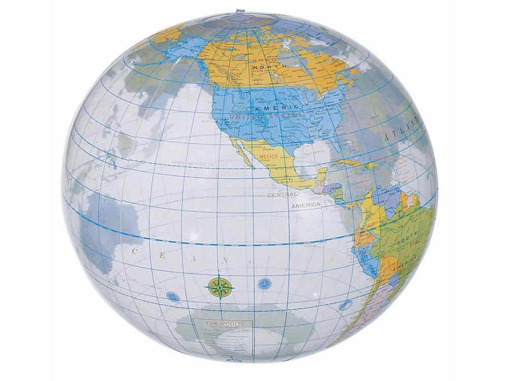 Мяч надувной пляжный «Globe», разноцветный