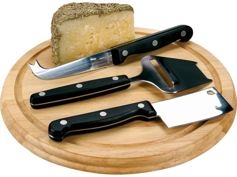 Набор для сыра: сервировочная доска и 3 ножа для сыра