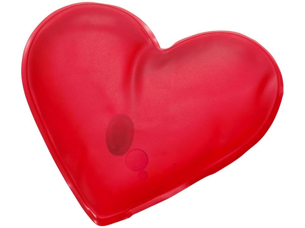 Грелка солевая «Paris» в форме сердца, красный