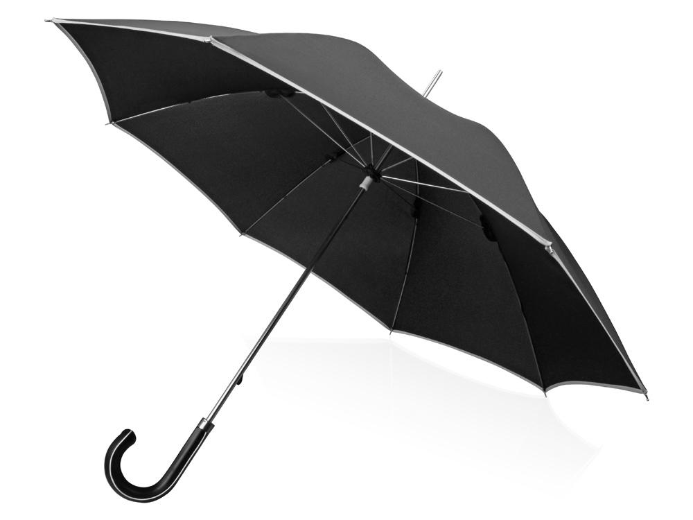 Зонт трость Ривер, механический 23, черный