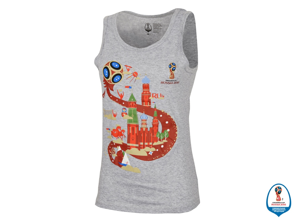 Майка женская 2018 FIFA World Cup Russia™, серый