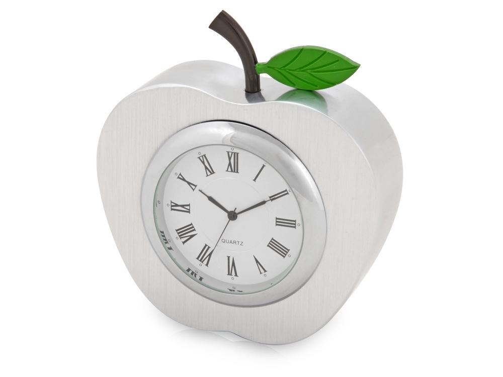 Часы настольные Серебряное яблоко, серебристый