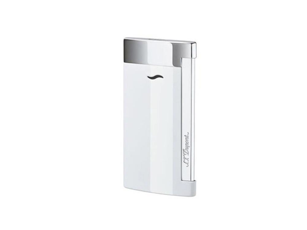 Зажигалка Slim7. S.T.Dupont, белый/серебристый