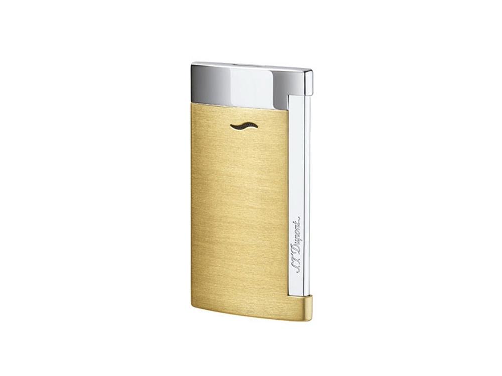 Зажигалка Slim7. S.T.Dupont, золотистый/серебристый