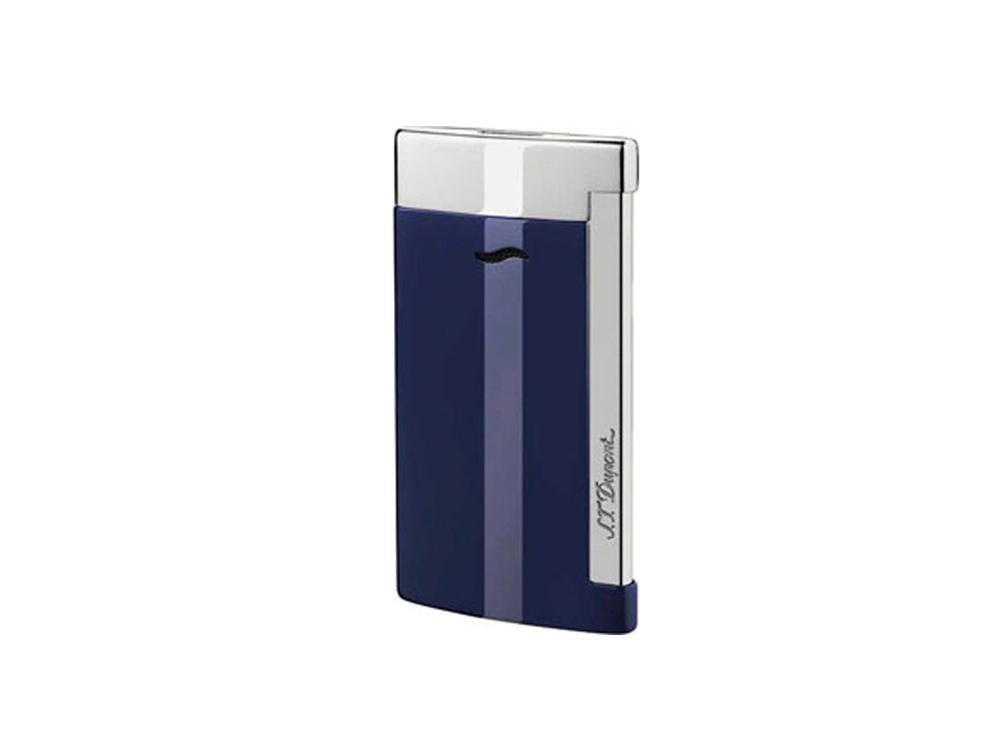 Зажигалка Slim7. S.T.Dupont, синий/серебристый