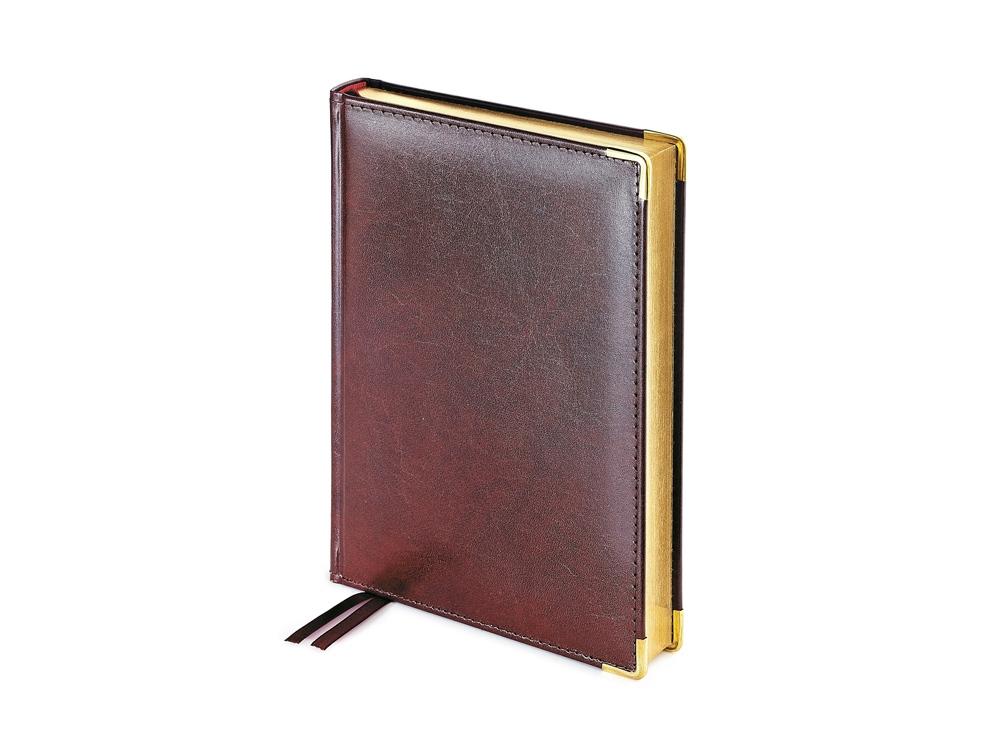 Ежедневник А5+ полудатированный «Imperium», коричневый