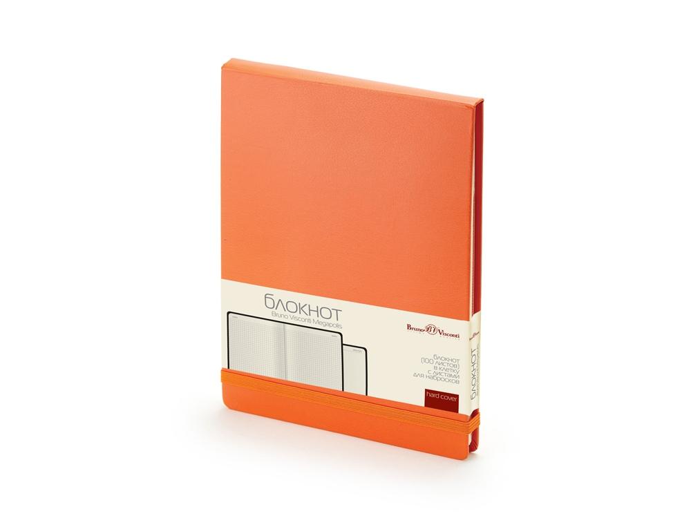 Блокнот А5 Megapolis Reporter, оранжевый