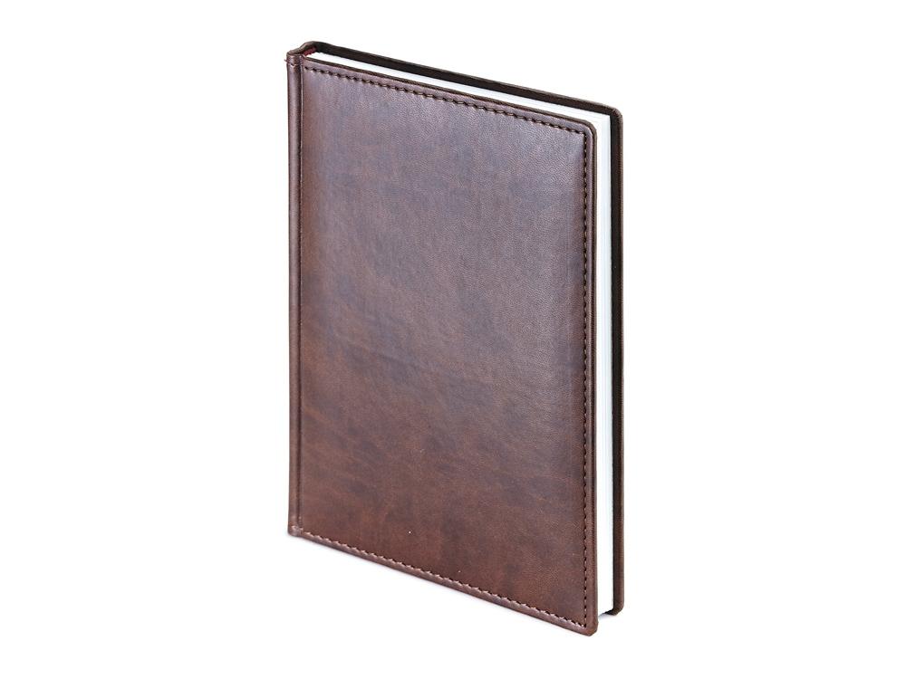 Ежедневник недатированный А4 Velvet, коричневый