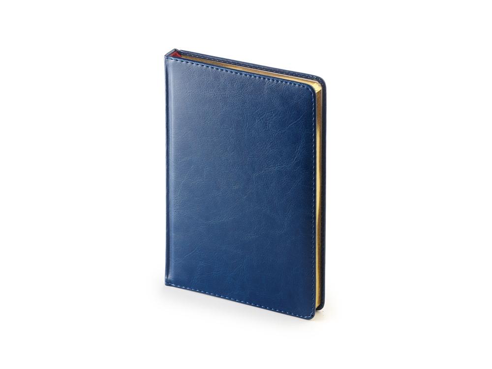 Ежедневник недатированный А5 Sidney Nebraska, синий с золотым срезом