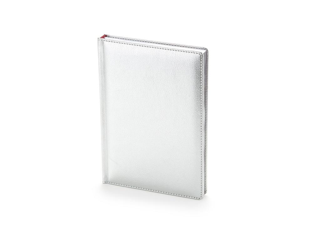 Ежедневник недатированный А5+ «Sidney Nebraska», серебро
