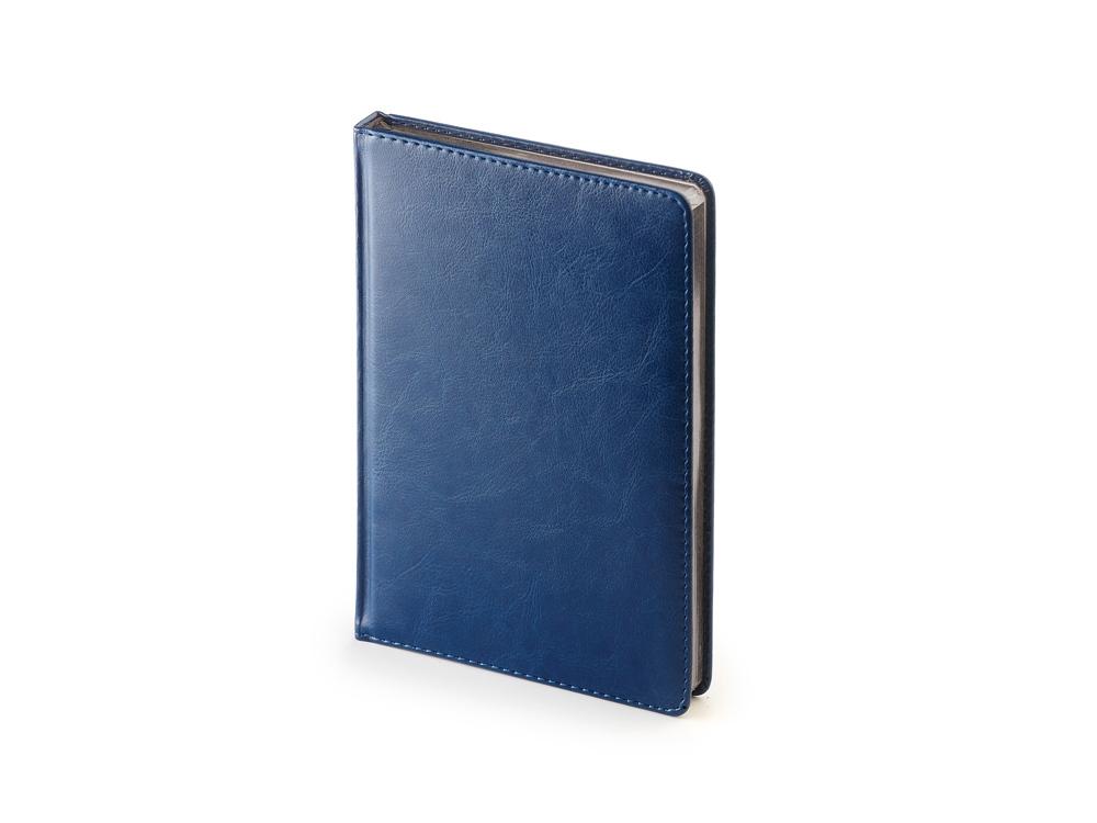 Ежедневник недатированный А5+ «Sidney Nebraska», синий серебристым срезом