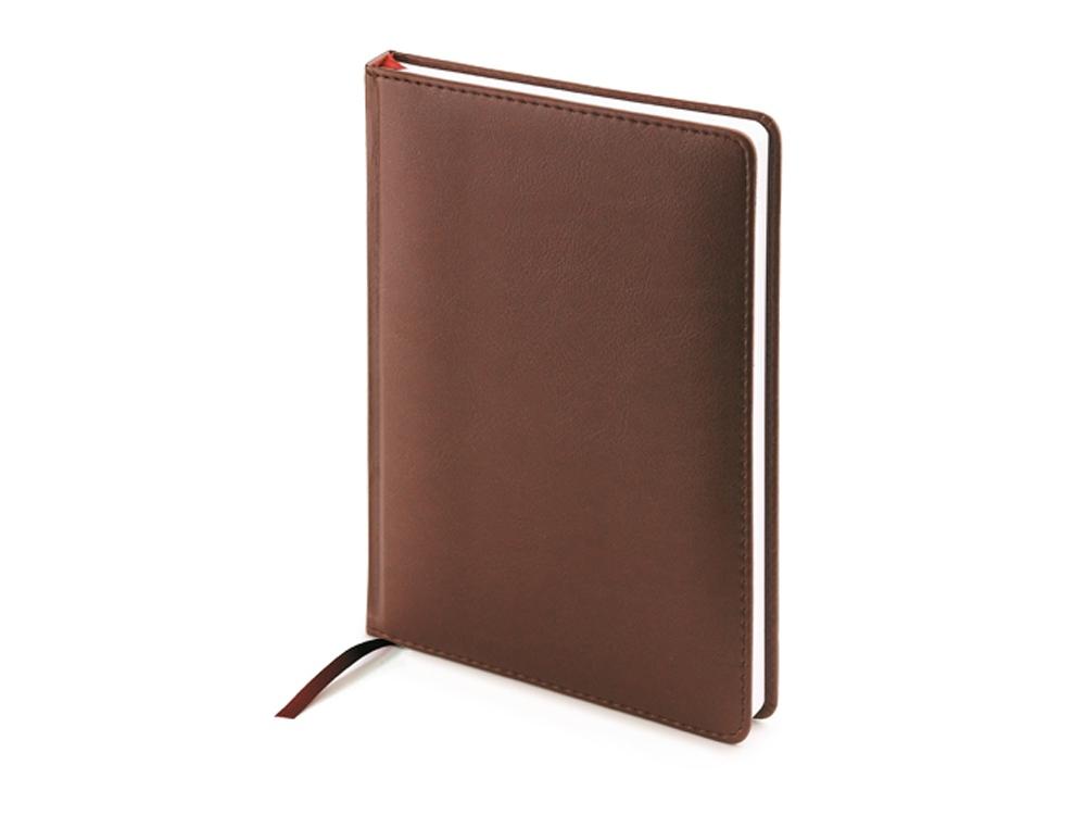 Ежедневник А5 недатированный Leader, коричневый