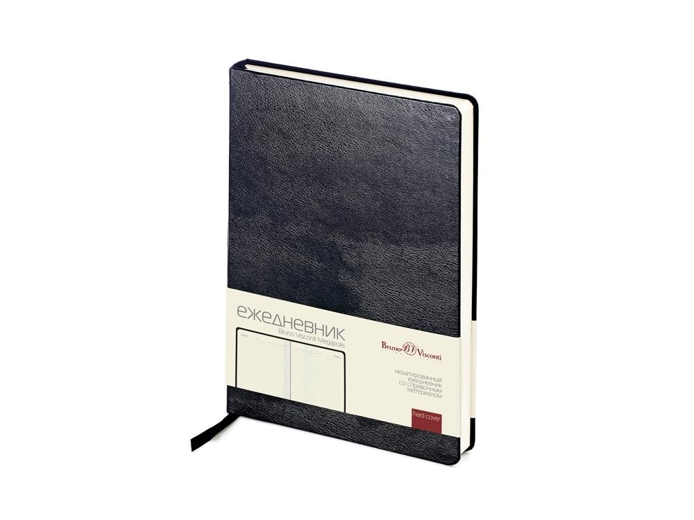 Ежедневник недатированный А5 «Megapolis», черный