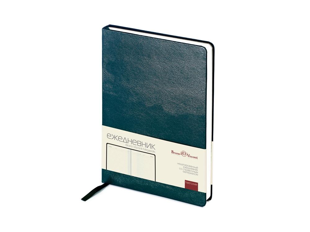 Ежедневник недатированный А5 «Megapolis», зеленый