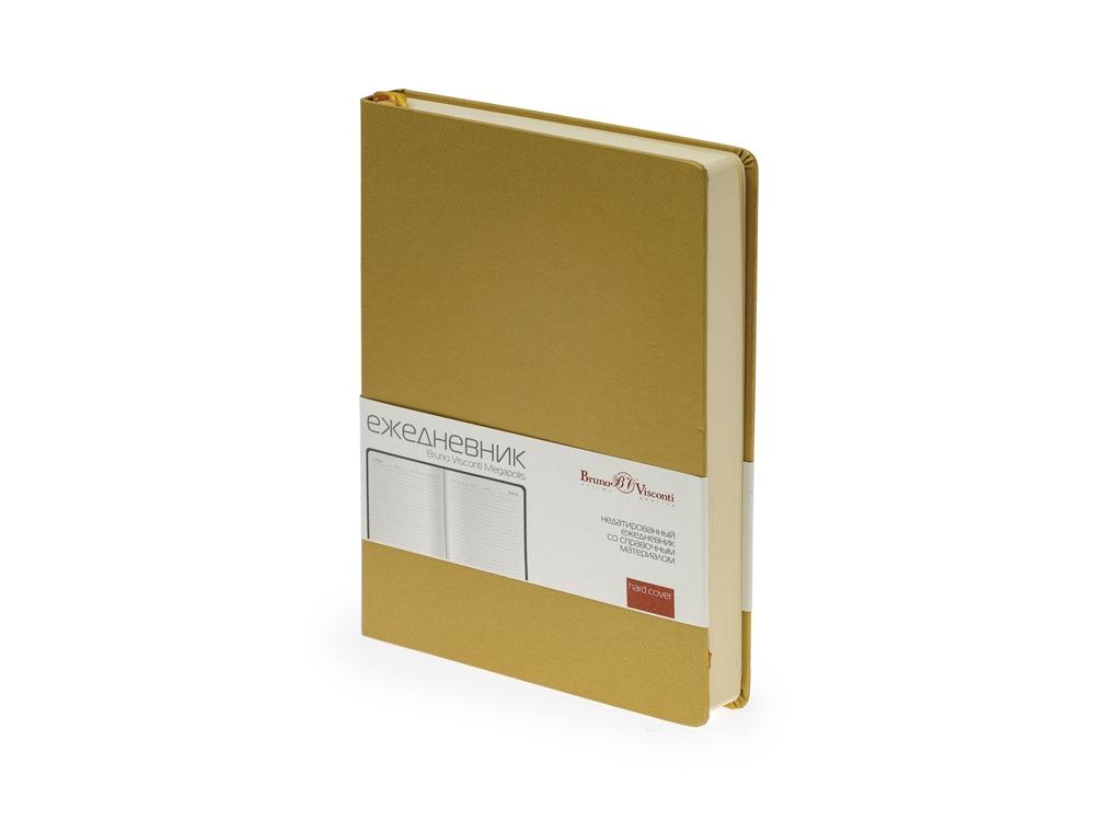 Ежедневник недатированный А5 «Megapolis», золотистый