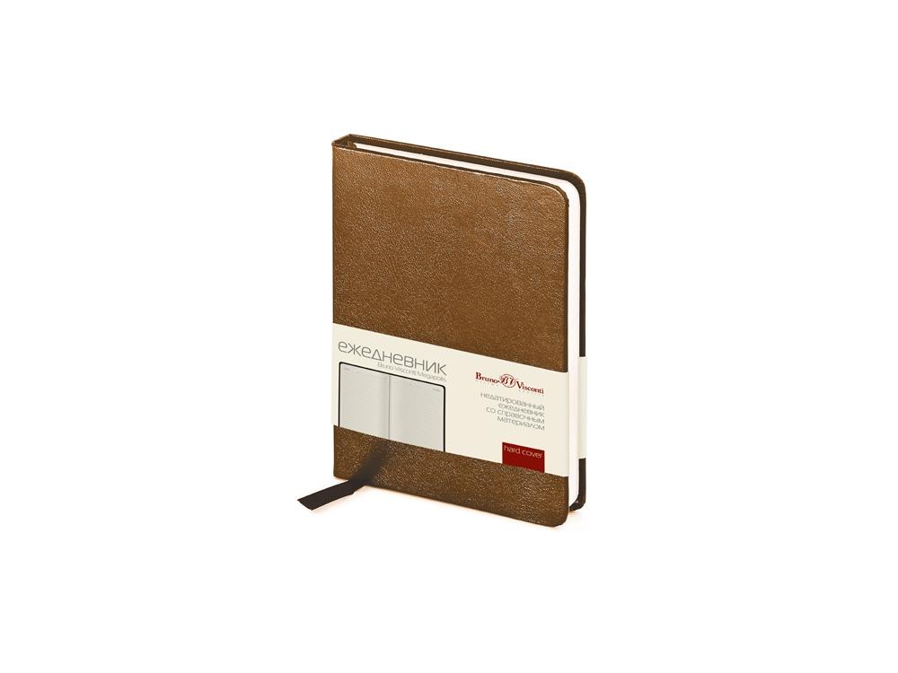 Ежедневник недатированный А6 «Megapolis», коричневый