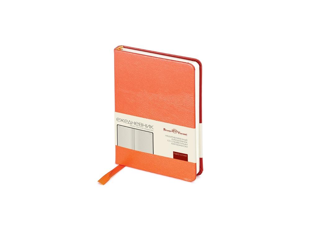 Ежедневник недатированный А6 «Megapolis», оранжевый