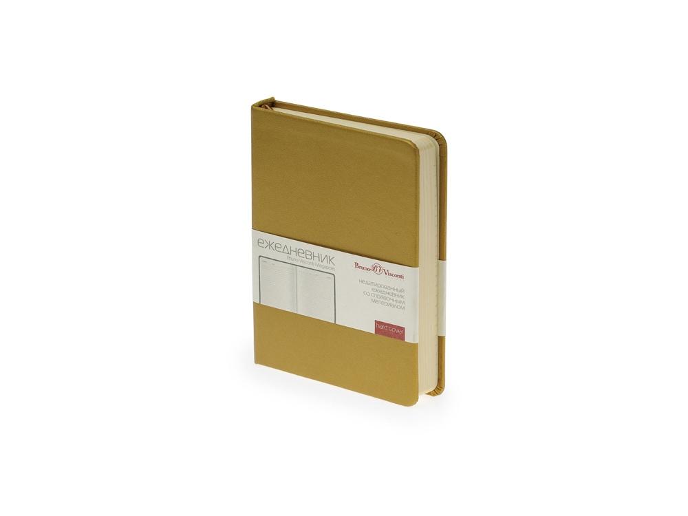 Ежедневник недатированный А6 «Megapolis», золото