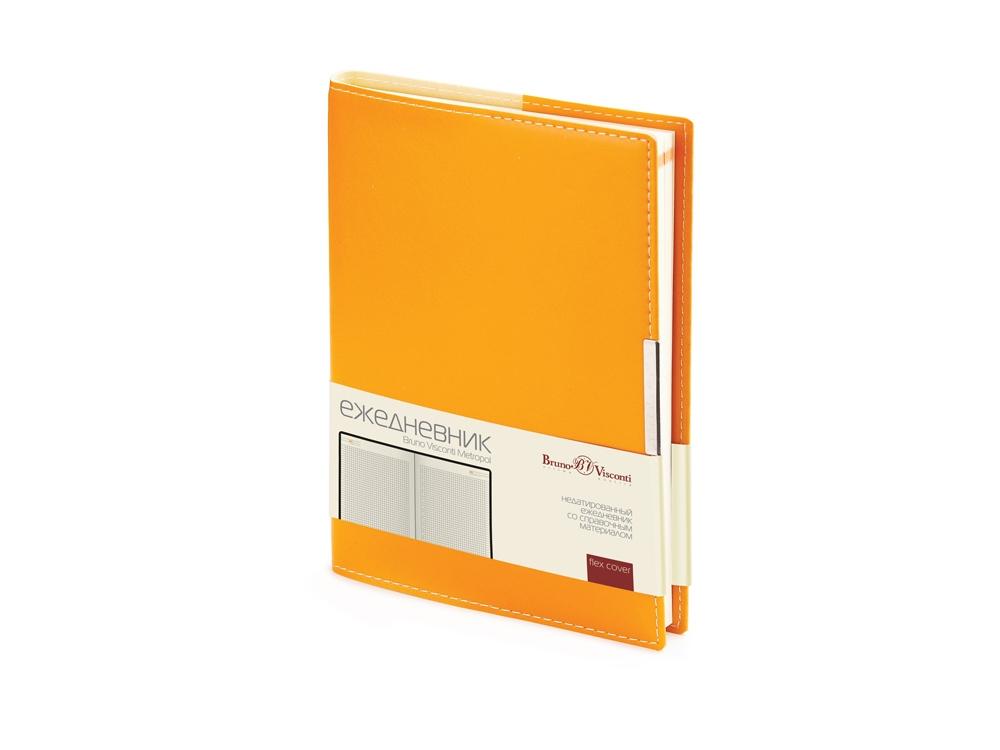 Ежедневник недатированный А5 Metropol, оранжевый