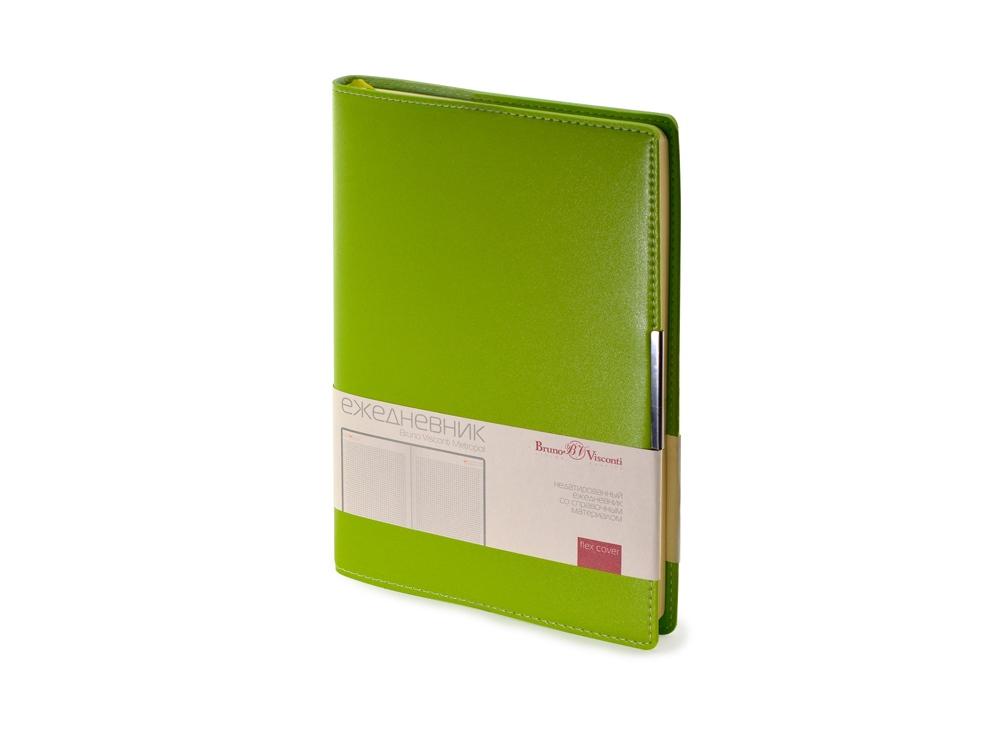 Ежедневник недатированный А5 Metropol, светло-зеленый