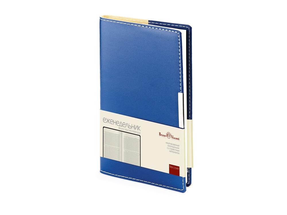 Еженедельник недатированный А6 «Metropol», синий