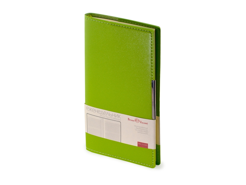 Еженедельник недатированный А6 Metropol, светло-зеленый