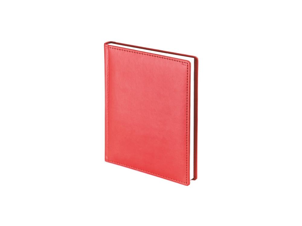 Ежедневник недатированный А6+ Velvet, красный