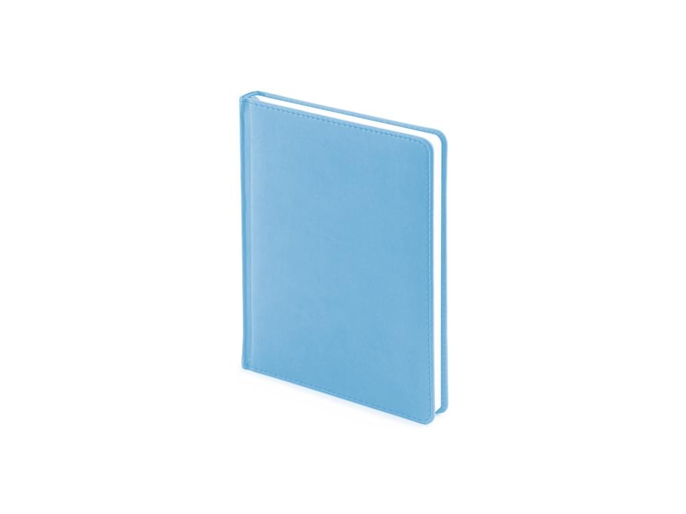 Ежедневник недатированный А6+ Velvet, небесно-голубой