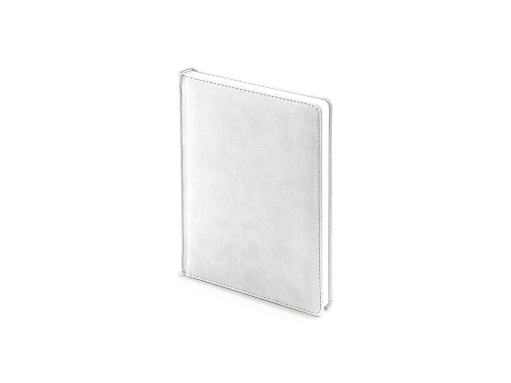 Ежедневник недатированный А6+ Velvet, белый