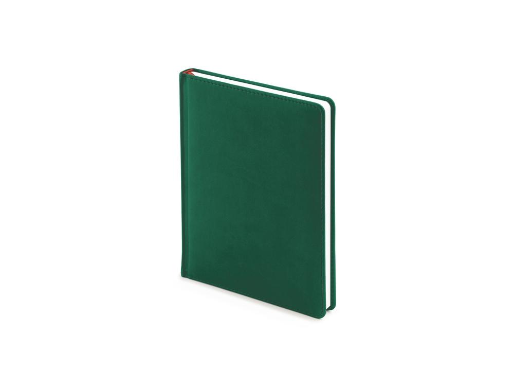 Ежедневник недатированный А6+ Velvet, темно-зеленый
