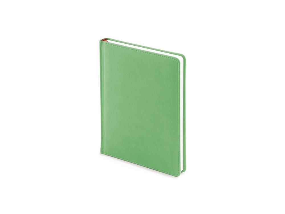 Ежедневник недатированный А6+ Velvet, зеленый флуор