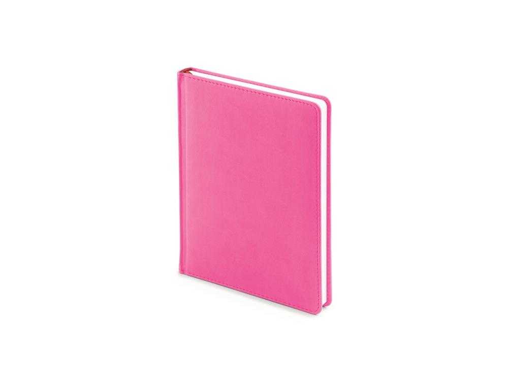 Ежедневник недатированный А6+ Velvet, розовый флуор