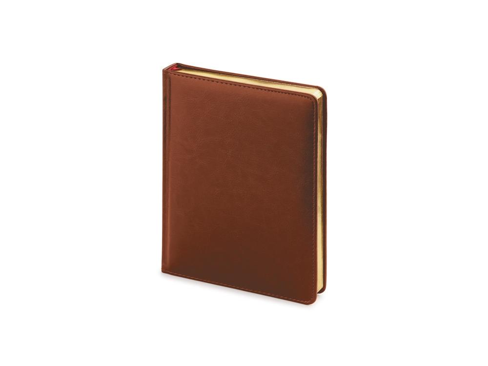 Ежедневник недатированный А6+ «Sidney Nebraska», коричневый