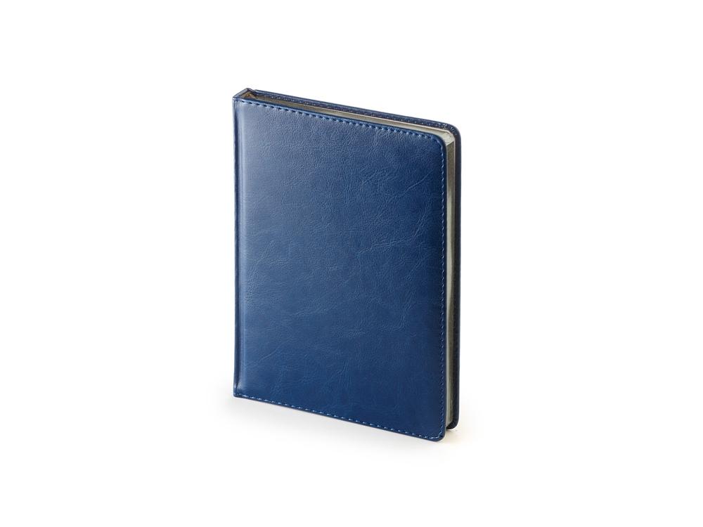 Ежедневник недатированный А6+ «Sidney Nebraska», синий с серебристым срезом
