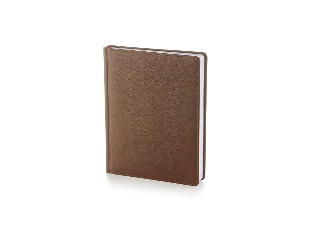 Ежедневник недатированный А6+ Leader, коричневый