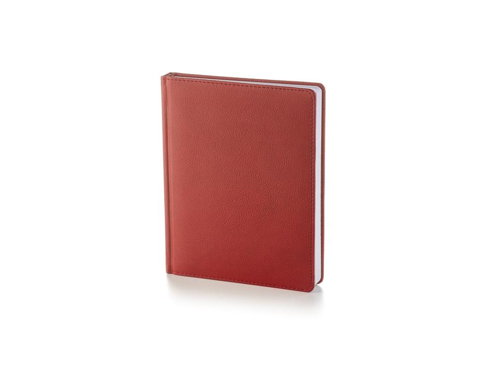 Ежедневник недатированный А6+ Leader, бордовый
