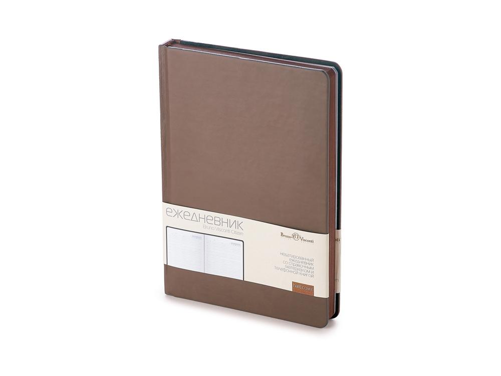 Ежедневник А5 недатированный «Citizen», коричневый