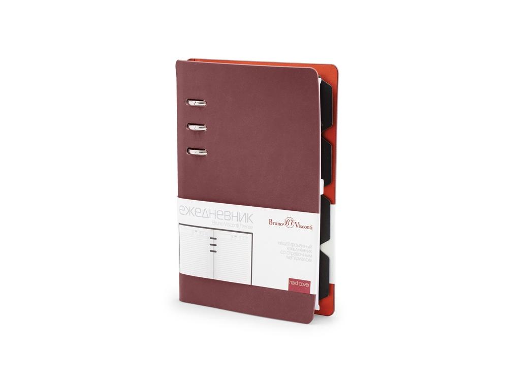 Ежедневник недатированный А5 «Firenze», бордовый